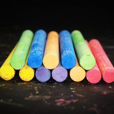 Colourful chalk